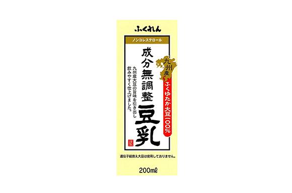 ふくれん 九州産ふくゆたか大豆成分無調整豆乳 200ml×12本