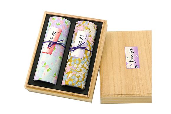 奥野晴明堂 進物 贈答用 お線香 花くらべ2種セット (桜 紅梅)