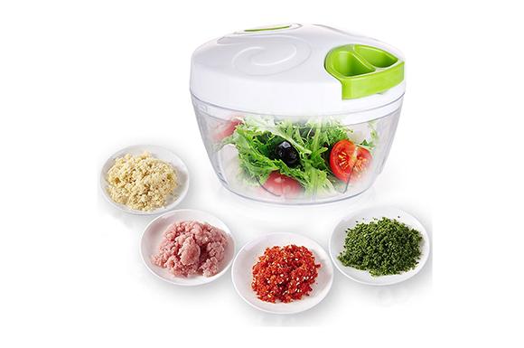 みじん切り器,HUAKA 野菜みじん切り器 チョッパー 手動 電池不要 フードスライサー 肉、大蒜調味料食材、ナッツなど