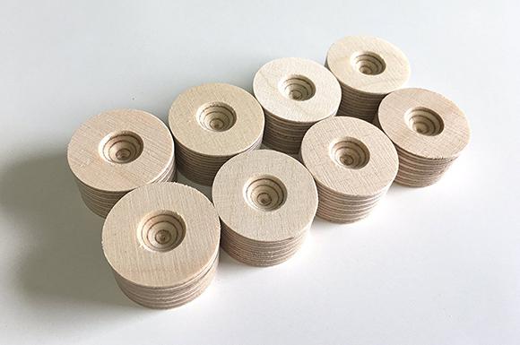 丸型木製インシュレーター (8個入り)