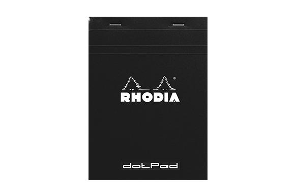 ロディア メモ帳 ドットパッド No.16 ドット罫 ブラック cf16559