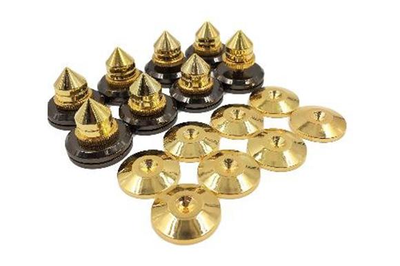 オーディオ 音質 スピーカー 向上 高さ 調整 可能 金属 製 インシュレーター スパイク 受け 選べる 個数 (8個セット)