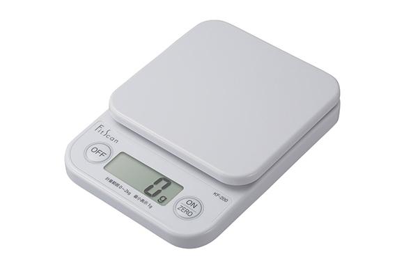 タニタ デジタルクッキングスケール フィットスキャン (2kg/1g) ホワイト KF-200-WH