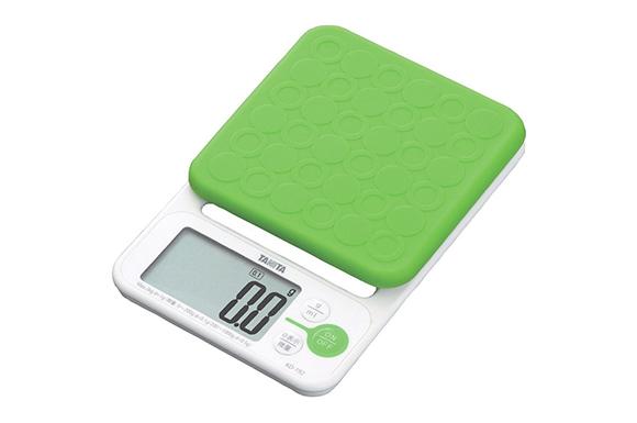 タニタ デジタルクッキングスケール 2kg(0.1g単位/200gまで) グリーン KD-192-GR