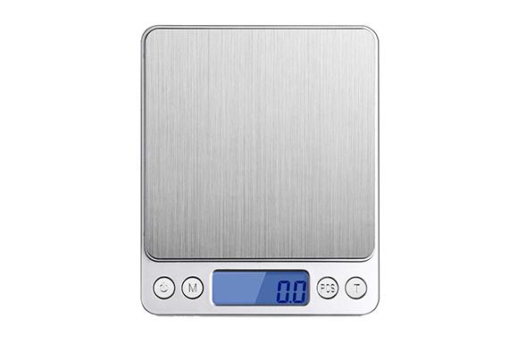 Boomtek デジタルスケール 電子天秤 0.1gから3000gまで精密な計量器 風袋引き機能付き 料理用電子はかり シルバー