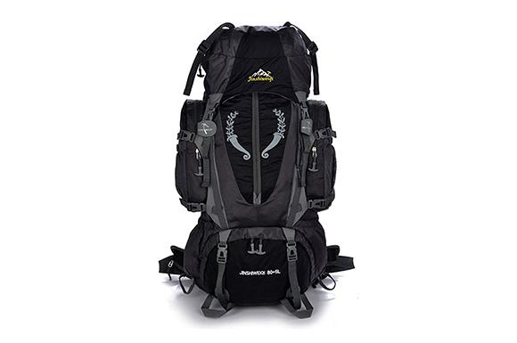Qiilu 登山バック 80+5L バックパック リュック・ザック 超大容量  アウトドア 災害用 防災用  防撥水 レインカバー付