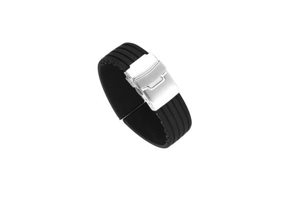 時計バンド 交換ベルトシリコーンゴム 腕時計ストラップ 20mm ブラック