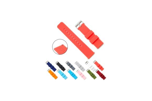 CIVO イージークリック時計ベルト 18mm 20mm 22mm Watch Band 交換バンド Quick Release シリコーンゴム時計ストラップ Silicone Watch Strap ラバーバンド 防水ベルト ステンレスバックル 取り替え工具付(一つのバネ棒外しと二つのイージークリックバネ棒を提供いたします) 交換マニュアル付 マルチカラー選択