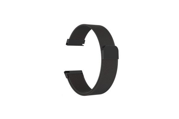 時計バンド ウォッチベルト マグネット式腕時計バンド スマート時計バンド Milanese 幅 18mm 20mm 22mm 交換ベルト メッシュバンド ミラネーゼバンド (20mm, ブラック)