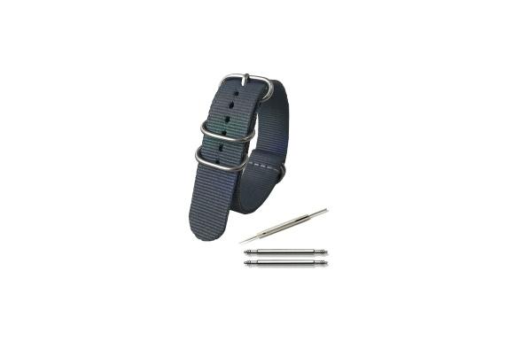 Calme(カルム)NATO ベルト 腕時計 バンド プレミアムBallisticナイロン 16㎜ 18㎜ 20㎜ 22㎜ 24㎜ 5色 (20㎜, グレー)