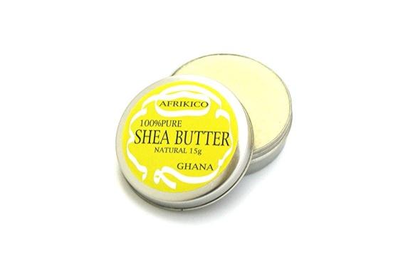 アフリキコ(AFRIKICO)シアバター(未精製100%) (ナチュラル, 15g)