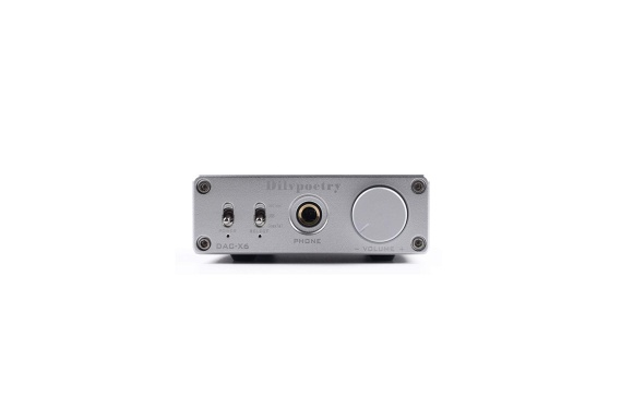 Dilvpoetry X6 ヘッドホンアンプ 光/同軸/USB DAC 24BIT/192 12V (シルバー)