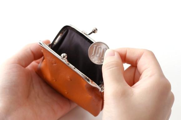 財布とお金を持つ人
