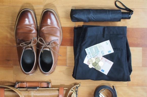 出張の荷物