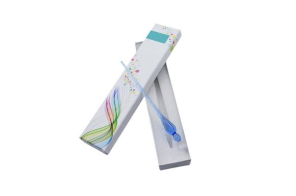 Myoffice  ガラスペン サインペン ビジネスギフト 文具 ボックス付け ブルー