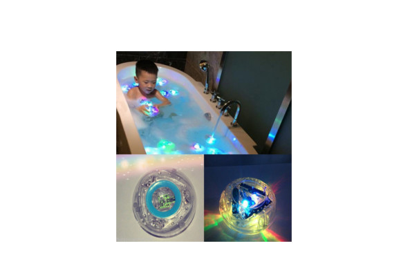 Reedoo 子供お風呂のおもちゃ LEDライト 防水浴室浴槽 お風呂 に 浮かべて 癒やし タイム フローティング バスライト レインボーカラー  1個