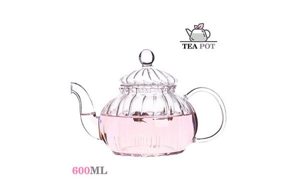 耐熱ガラスティーポット ぽってと可愛い カボチャ 茶ポット急須 茶漉し フルーツティー ハロウィン ギフト600ML