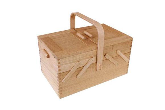 倉敷意匠 ソーイングボックス 木製