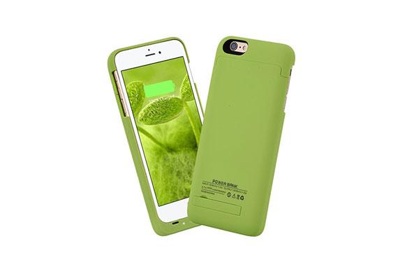 ISAKO iPhone6S Plus/6 Plus 5.5インチ 4000mAh バックアップバッテリー 内蔵ケース (グリーン)
