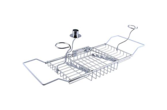 (ヨンツリー)Yontreeバスタブトレー バスタブラック バステーブル ブックスタンド付き お風呂用 バスグッズ 伸縮式62cm~85cm