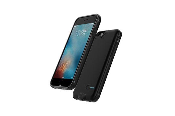 【microSDカードリーダー搭載!!】3Q-LEVO バッテリーケース iPhone6 6s用 2300mAh 超薄型ジャストフィット 手触りの良い高級マットデザイン【black】