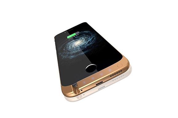 【TECHY】大容量10000mah iphone 6/6s用 4.7''モバイル バッテリー内臓ケース パワーバンク iphoneを2回以上充電 【日本語取扱説明書】 (ゴールド)