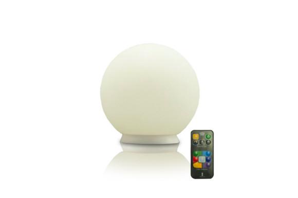 ottostyle.jp 防水LEDボールライト 水に浮かべられる パレットボール 25cm 【キャンドルモード/グラデーションモード搭載】 バスライト 色彩調光機能 充電式 リモコン付き ボール型ランプ