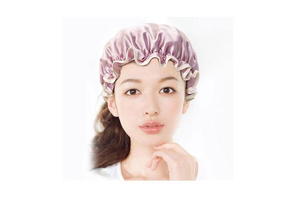 可愛い シャワーキャップ ヘアキャップ ヘアーキャップ ヘアーターバン 防水帽 入浴キャップ 帽子 お風呂 シャワー用に 浴用帽子 便利 女性の弾性の防水入浴シャワーキャップ再使用可能なサロンの髪を保護する帽子 (ピンク) Le-04
