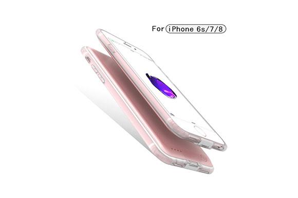 iPhone 8/7/6s バッテリー内蔵ケース 4000mAh 軽量 超薄 大容量 専用充電器 急速充電 全面保護ケース 超便利 ケース型バッテリー 車載ホルダー対応 携帯充電器 (4.7インチ, ローズゴールド)