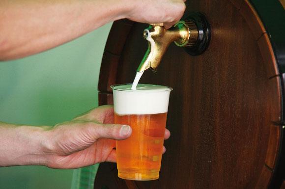 ビールを入れる