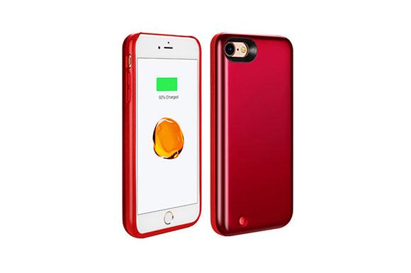 PZX 3800mAh 超大容量 軽量 バッテリー内蔵ケース iPhone7 電操作可能 バッテリーケース 急速充電 ケース型バッテリー (iPhone7, レッド)