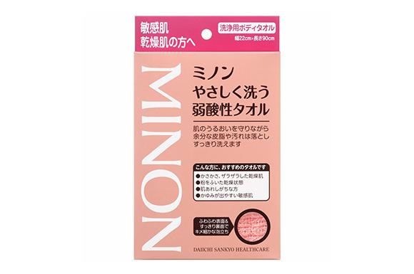 第一三共ヘルスケア ミノンやさしく洗う弱酸性タオル 1枚入