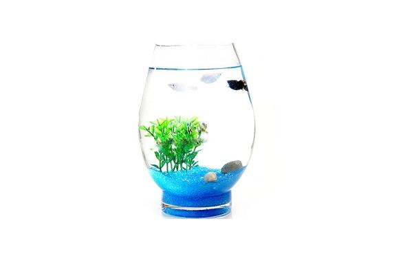 花瓶 ビー玉 季節 インテリア 水槽 おしゃれ 人気 おすすめ 癒やし お部屋にささやかな癒やしを 金魚鉢 アクアリウム プールボール クリア (Cタイプ Sサイズ)
