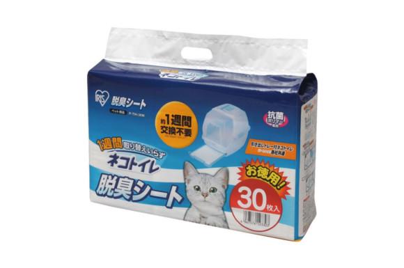 アイリスオーヤマ 1週間取り替えいらずネコトイレ専用 脱臭シート 30枚入り P-TIH-30M