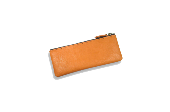 (リブラ) Libra ペンケース 革 シンプル 筆箱 5色 (ブラウン)