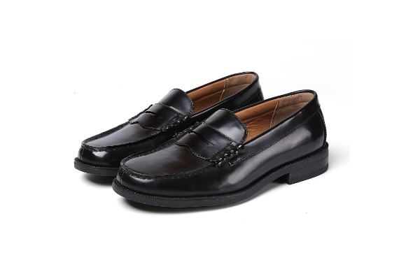 【ALLA MODA】 高品質 人気 メンズ ローファー 学生靴 通勤 通学 撥水加工 軽量 防滑 防臭