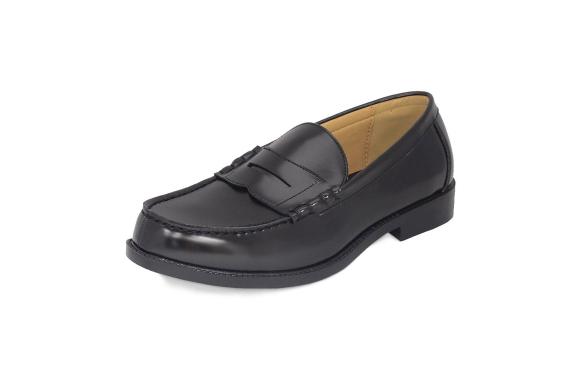 [エスメイク]SMAKE ローファー メンズ 学生靴 黒(ブラック)
