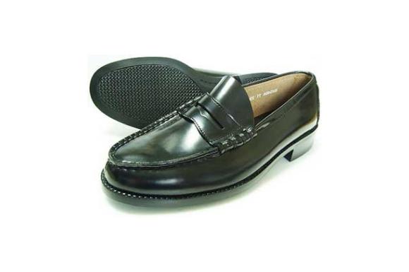 BRAVAS(MoonStar)本革 メンズ ローファー 黒 3E(学生靴・通学靴・紳士靴)[大きいサイズ 27.5cm、28cm、28.5cm、29cm、30cm、小さいサイズ 21.5cm、22cm、22.5cm、23cm、23.5cm、24cm あり]