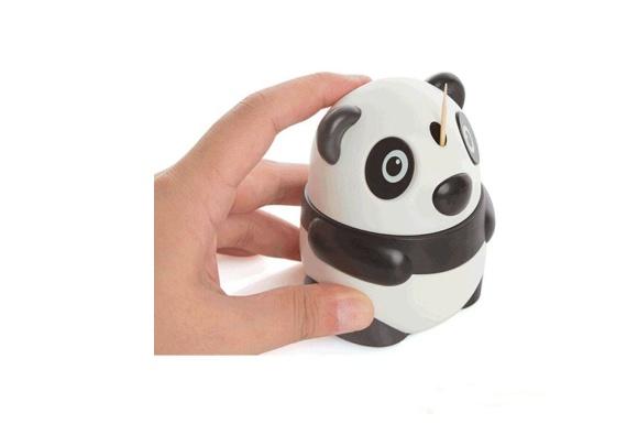 Amadan ファッショナブルで可愛い 自動プラスチック爪楊枝ホールダー