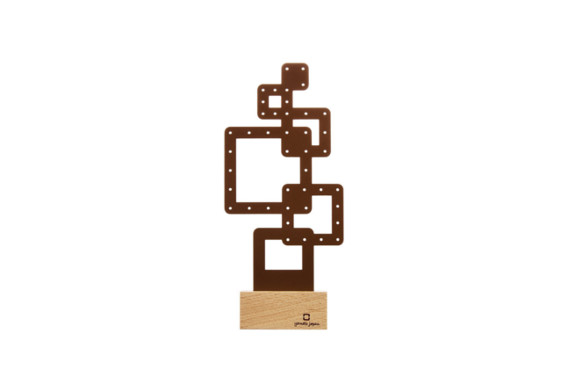 ヤマト工芸 ピアスホルダー 「ピアスホルダー-幾何学-」 四角 YK15-014