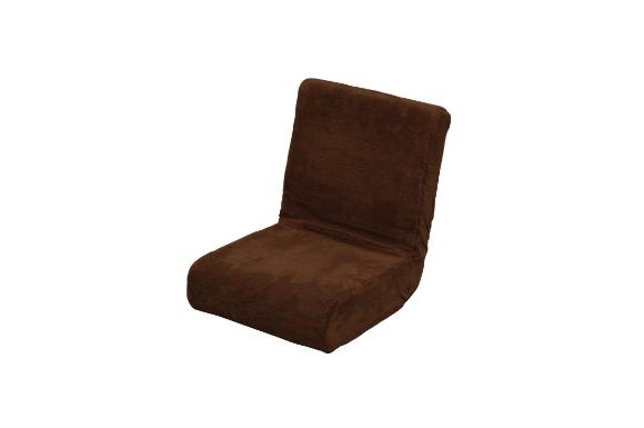 アイリスオーヤマ 座椅子 コンパクト シャギー生地 ブラウン ZC-9