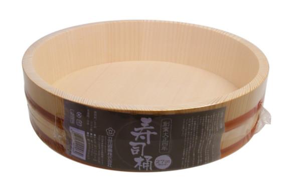 立花容器 寿司桶 SPシリーズ 27cm 約3合 (直径27×7cm)