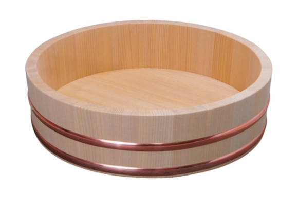 木曽さわらの厚口飯台  寿司桶・飯切 33cm