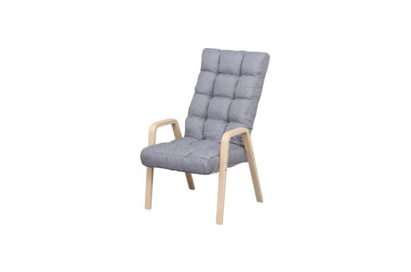 アイリスオーヤマ 椅子 ウッドアーム チェア Lサイズ グレー WAC-L