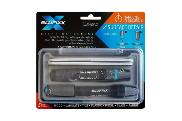Blufixx(ブルーフィックス)液体プラスチック 接着剤 クリア・ブラック2色セット