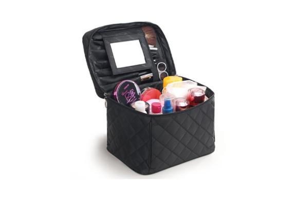 FYX コスメバッグ メイクポーチ 化粧ポーチ バニティケース トラベルポーチ 鏡付き ドレッサー 収納ボックス 化粧品 収納 雑貨 小物入れ 出張用バック 超軽量 機能的 大容量 4色