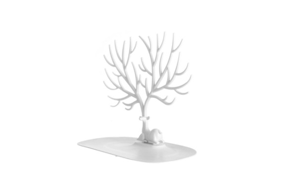 ニホンジカツリージュエリーホルダー, aPerfectLife ジュエリー スタンド インテリア ネックレス イヤリング ピアス 収納 ホルダー シカ (ホワイト)