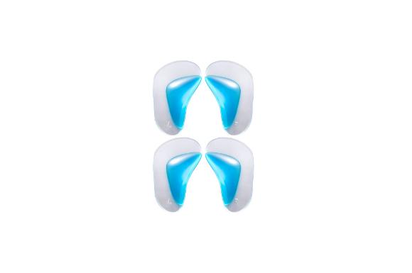 Phoenix 偏平足 専用 シリコン インソール 衝撃 吸収 足裏 足底の 痛みを 解消! 2足分 4枚 セット クリアー ブルー