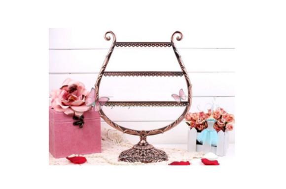 飾る収納 ピアス イヤリング 収納 スタンド 58穴 選べる 2種 かわいい オシャレ (竪琴(ハープ)型)