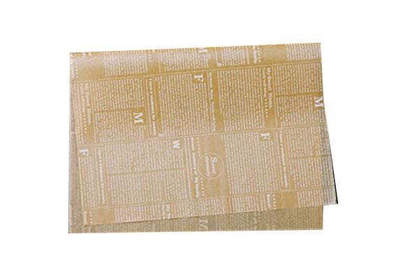 クッキングペーパー-シート-ニュース茶-6取サイズ-10枚-TOMIZ(富澤商店)-袋・ロール-ワックスペーパー